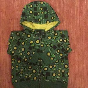 Front Zip Hooded Sweatshirt